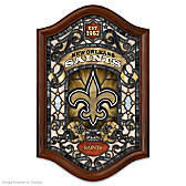 New Orleans Saints Illuminated Stained-Glass Wall Decor