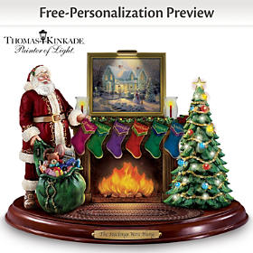 Thomas Kinkade Stockings Were Hung Personalized Sculpture