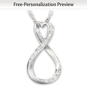 Forever Our Love Personalized Diamond Pendant Necklace