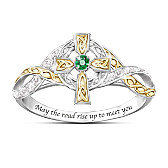 Irish Blessing Emerald And Diamond Ring