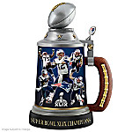 New England Patriots Super Bowl XLIX Championship Stein