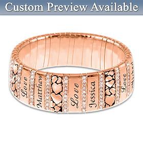 Mom's Family Of Love Personalized Bracelet