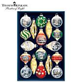 Thomas Kinkade Shimmering Splendor Ornament Set