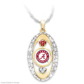 For The Love Of The Game Crimson Tide Pendant Necklace