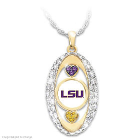 For The Love Of The Game LSU Tigers Pendant Necklace