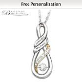 I Love You Personalized Diamond Pendant Necklace
