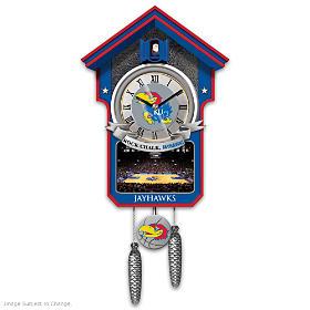 Kansas Jayhawks Cuckoo Clock