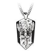 God Bless America Pendant Necklace
