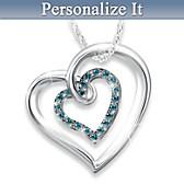 Always In My Heart Diamond Pendant Necklace