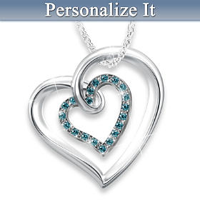 Always In My Heart Diamond Pendant Necklace
