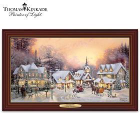 Thomas Kinkade Village Christmas Wall Decor