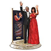 Barack And Michelle Obama Commemorative Tribute Sculpture