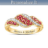 Romance Ruby & Diamond Personalized Ring