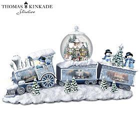Thomas Kinkade Snowfall Express Snowglobe