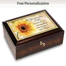 Granddaughter, You Fill My Life Personalized Music Box