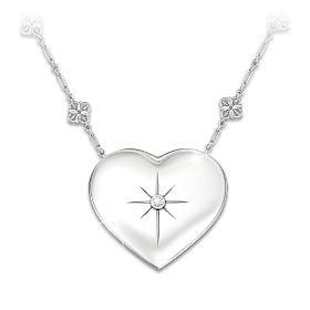 Mom's Message Of Faith Diamond Pendant Necklace