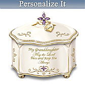 Granddaughter, May The Lord Bless You Personalized Music Box