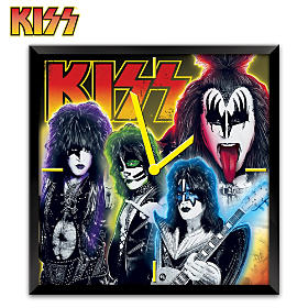 KISS Time To Rock Wall Clock