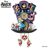 Disney Alice In Wonderland Mad Hatter Cuckoo Clock