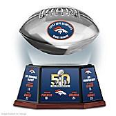 Denver Broncos Super Bowl 50 Football Sculpture