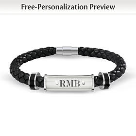 My Grandson, My Pride, My Joy Personalized Diamond Bracelet