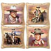 John Wayne Western Sunset Pillow Set