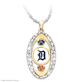 For The Love Of The Game Tigers Pendant Necklace