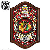 Chicago Blackhawks® Illuminated Stained-Glass Wall Decor