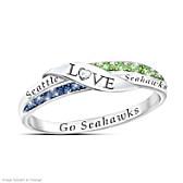 Go Seahawks Diamond Ring