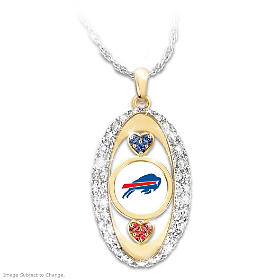 For The Love Of The Game Bills Pendant Necklace