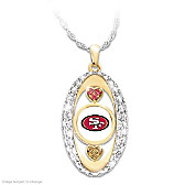 For The Love Of The Game 49ers Pendant Necklace