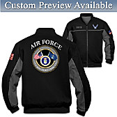 Air Force Salute Personalized Men's Jacket
