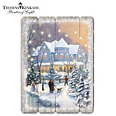 Thomas Kinkade On A Starlit Winter's Night Wall Decor