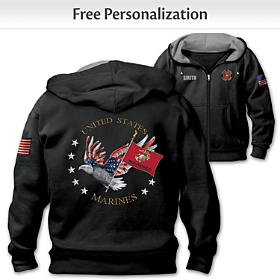 USMC Pride Personalized Men's Hoodie