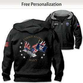 Navy Pride Personalized Men's Hoodie