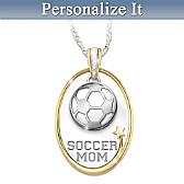 #1 Fan Sports Mom Personalized Pendant Necklace