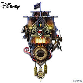 Disney Pirates Of The Caribbean Cuckoo Clock