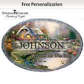 Welcome All Who Enter Personalized Welcome Sign