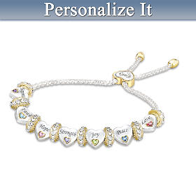 Heartfelt Wishes For My Daughter Personalized Bracelet