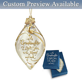 Granddaughter, I Love You Personalized Ornament