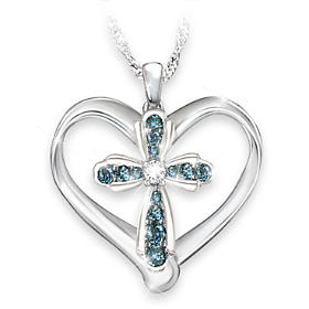 Blessings For My Granddaughter Diamond Pendant Necklace