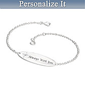 Always With You Personalized Diamond Bracelet