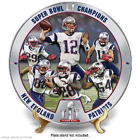 Super Bowl LI Champions Patriots Collector Plate