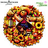 Thomas Kinkade Happy Harvest Days Wreath