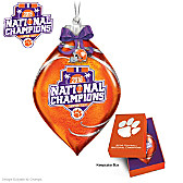 Tigers 2016 Football National Champions Glass Ornament