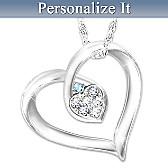 My Joy Personalized Diamond Pendant Necklace