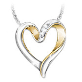 I'll Forever Love You Diamond Pendant Necklace