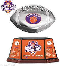 Tigers 2016 National Champions Football Sculpture