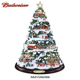 Budweiser Delivering Holiday Cheer Tabletop Tree