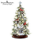 Thomas Kinkade Wintry Wonders Tabletop Tree